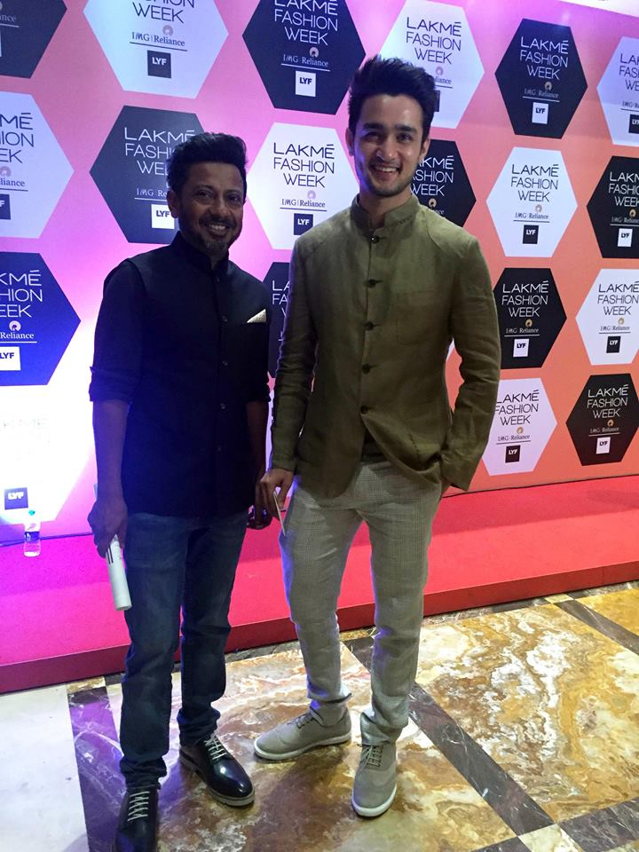Actor Ashish Bisht and director Onir at Lakme Fashion Week spotted in Hats Off Accessories Shoes. Shop the Look