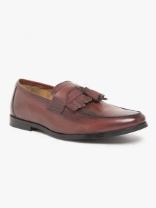 Genuine leather Burgundy loafers