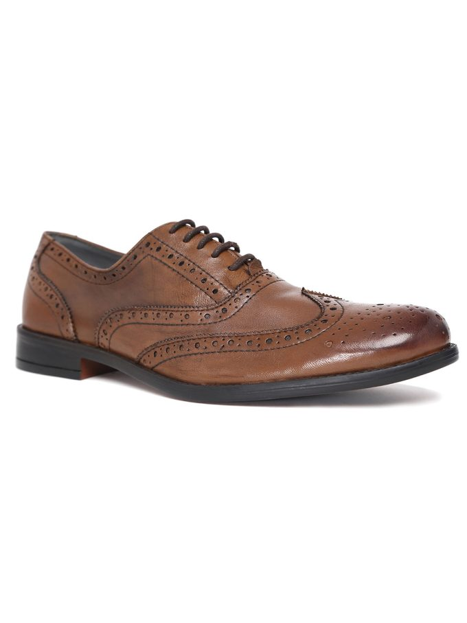 leather brown oxford brogues