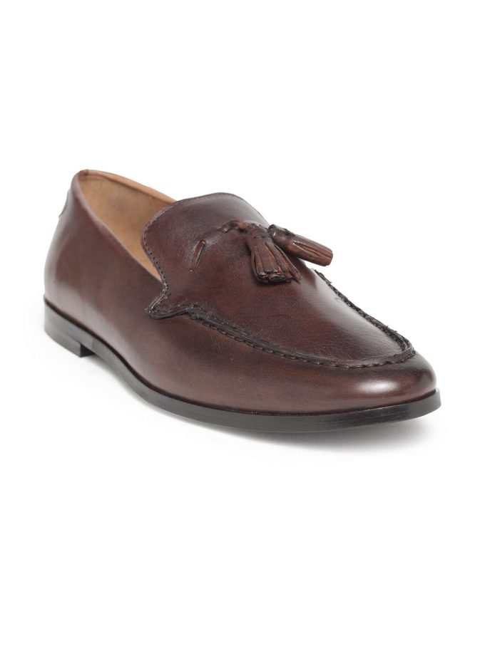 Genuine Leather Brown Loafers