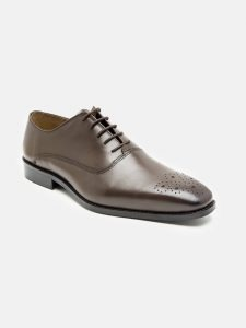 Leather Brown Oxford shoes for men