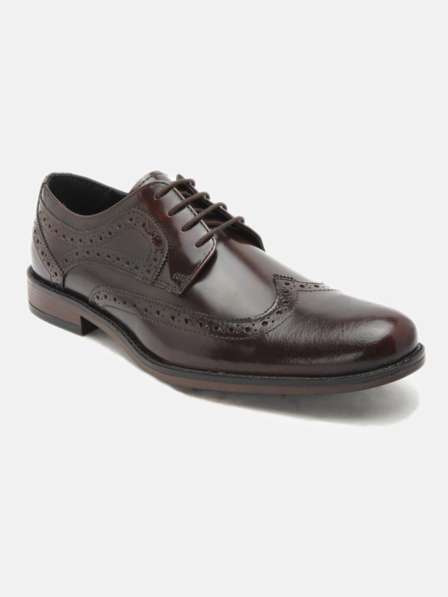 Patent Leather Burgundy Brogues shoes