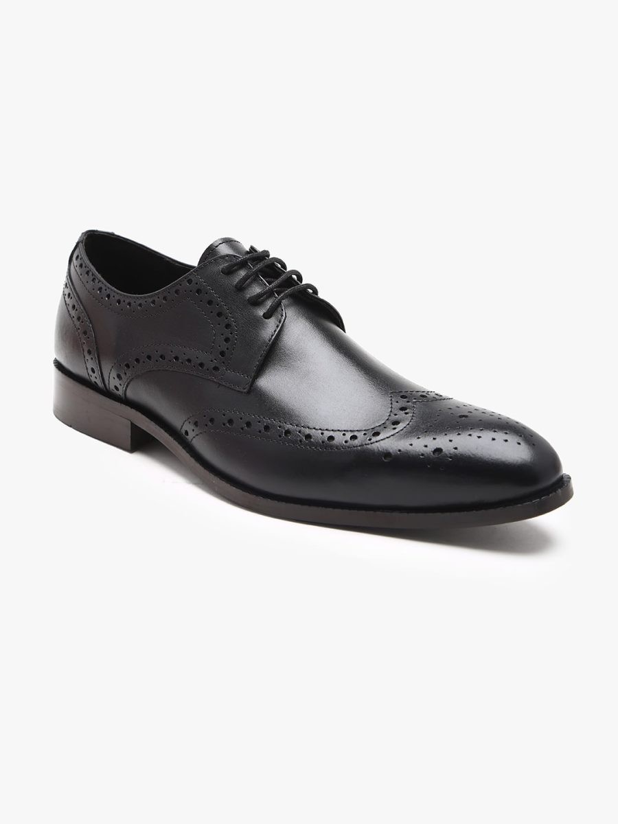 Black Derby Brogues Shoes