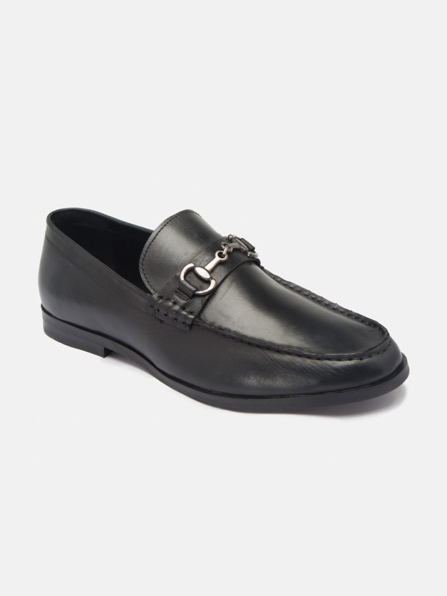 Leather Black Loafers shoes