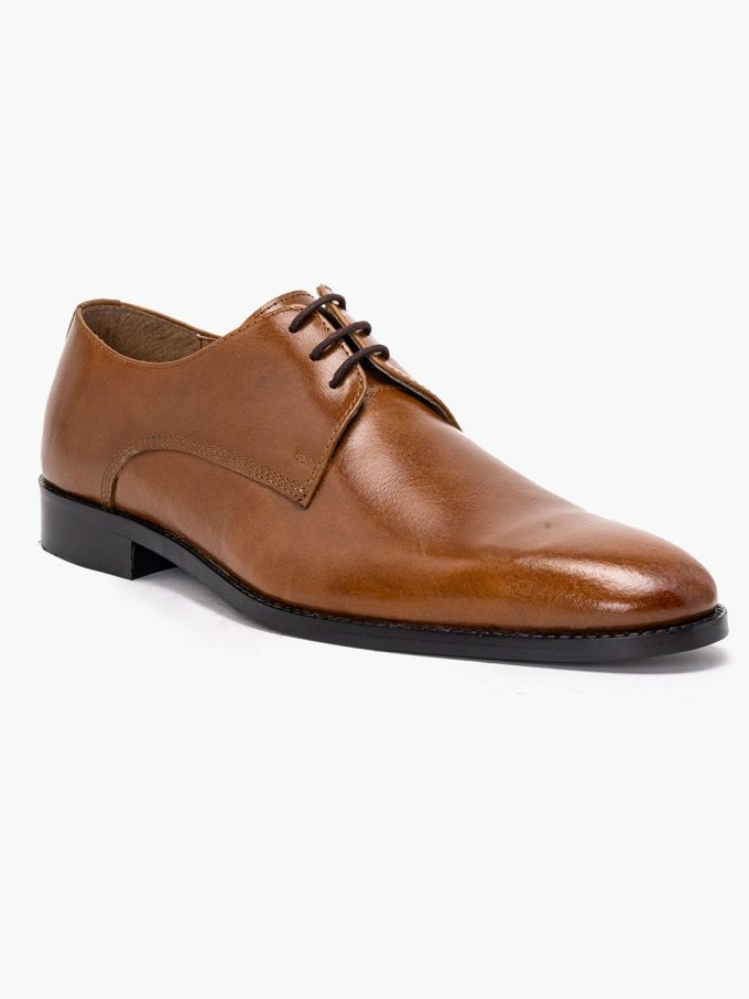 Tan Derby Shoes for men