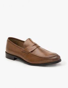 Tan Leather Penny Loafers