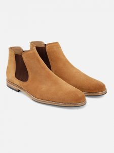 Beige Suede leather Chelsea Boots