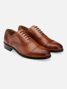 Leather Tan Oxford Brogues Shoes