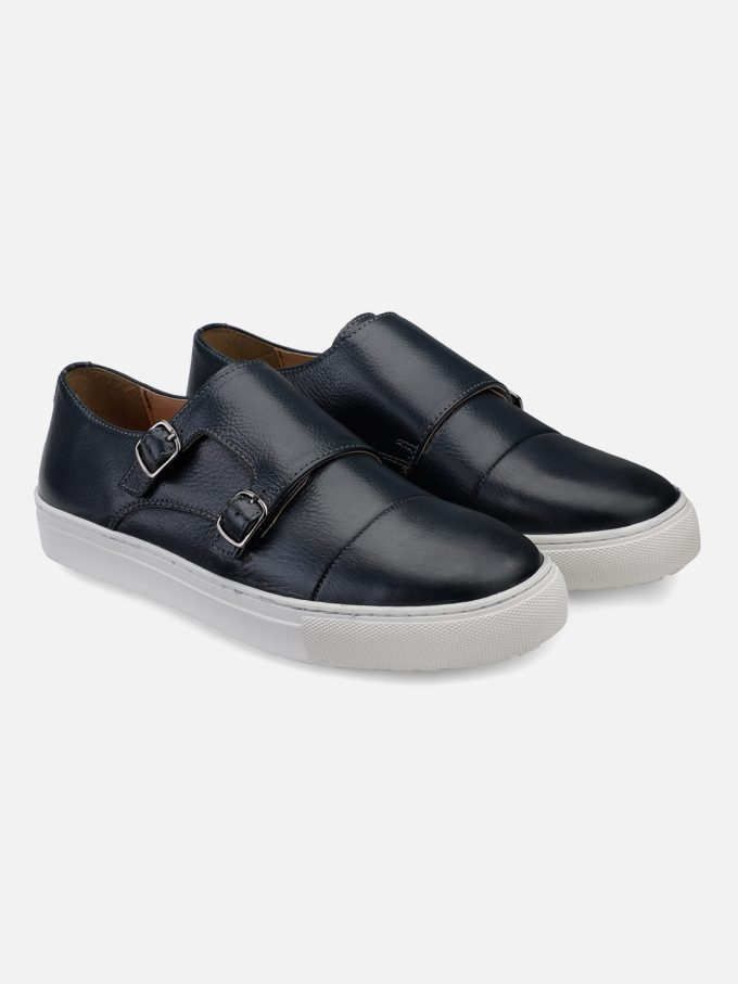 Blue Monk Strap Sneakers