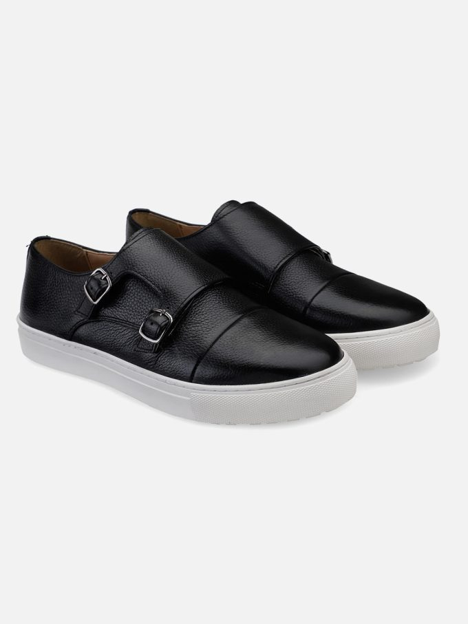 Black Monk Strap Sneakers
