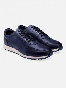 navy leather sneakers