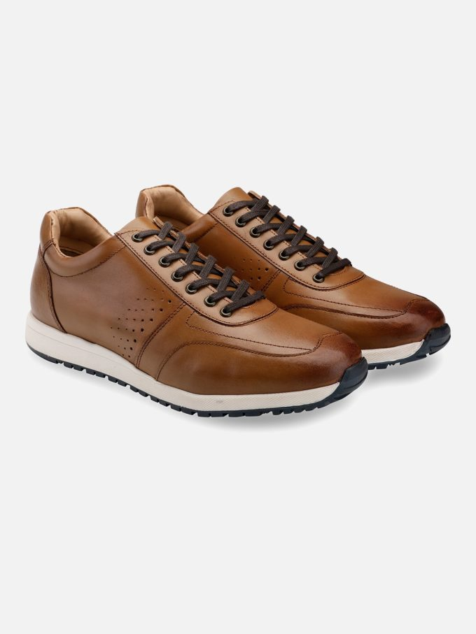 Tan Leather Sneakers