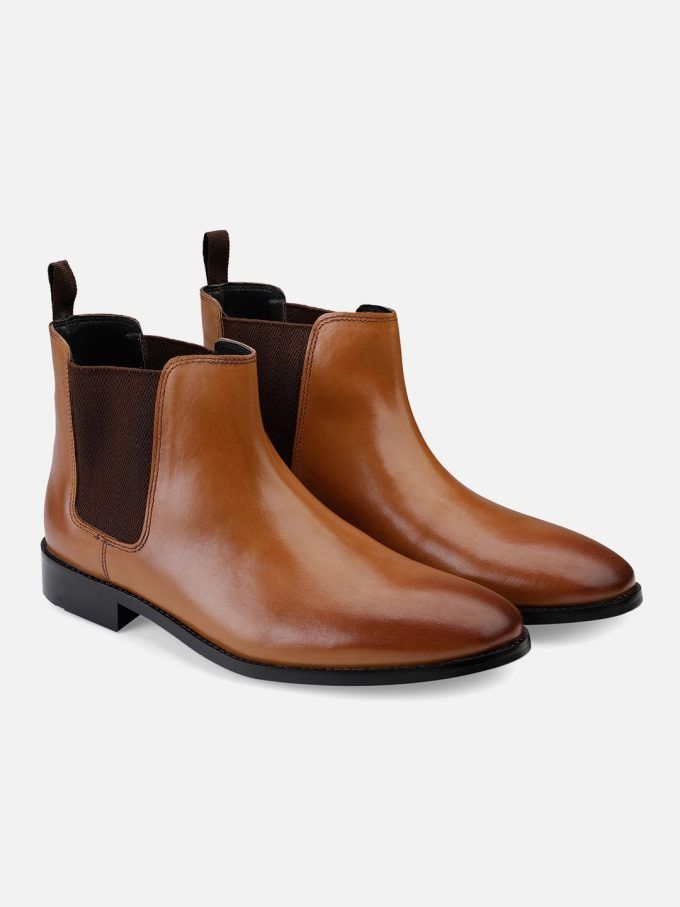 Tan Burnish Chelsea Boots