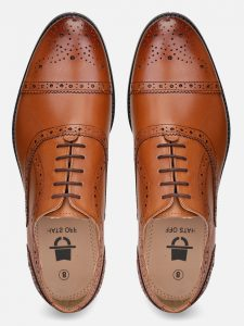 tan leather brogues shoes